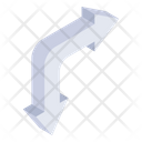 Right Curved Arrows Icon