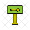 Right Direction Board Icon