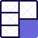 Right Double Row Grid Icon