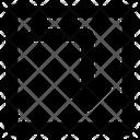 Right Down Arrow Icon