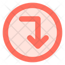 Right Down Arrow Icon