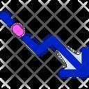 Right Down Arrow Arrow Direction Icon