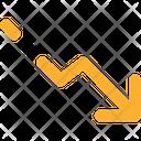 Graphic Down Icon