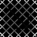 Diagonal Right Down Icon