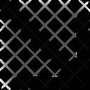 Arrow Right Down Icon