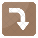 Right Downward Arrow Icon