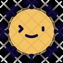 Right Eye Wink Coronavirus Emoji Coronavirus Icon