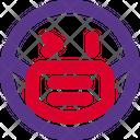 Right Eye Wink Emoji With Face Mask Emoji Icon