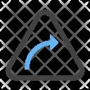 Right hand curve Icon