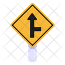 Right Junction Arrow Road Post Traffic Board Icon