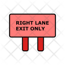 Right Lane Exit Only Icon