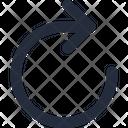 Arrow Reset Right Icon