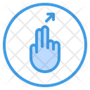 Right Slant Up Finger Icon