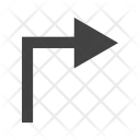 Right Turn Direction Icon
