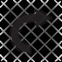 Arrow Right Turn Icon
