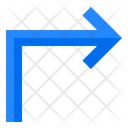 Right Turn Right Pointer Icon