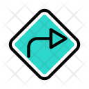 Right Turn Right Turn Icon