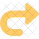 Curved Right Turn Icon
