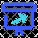 Right Up Arrow Groth Arrow Icon