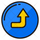 Right Up Arrow Right Turn Icon
