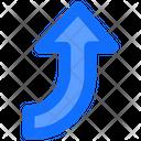 Right Up Arrow Icon