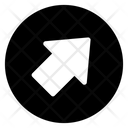 Right Upward Arrow Directional Arrow Arrowhead Icon
