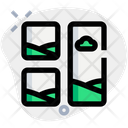 Right Vertical Image Grid Icon