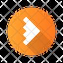 Arrowhead Arrow Notched Icon