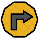 Rigth Turn  Sign Icon