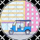 Rikshaw Auto Transport Icon