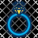 Diamond Ring Accessories Jewelry Icon