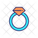 Ring Diamond Ring Accessories Icon