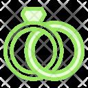 Ring Dimond Gold Icon