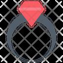 Diamond Present Ring Icon