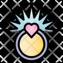 Ring Valentine Heart Icon