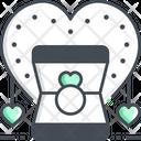Valentine Ring Diamond Ring Ring Icon