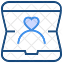 Heart Valentines Day Ring Box Icon