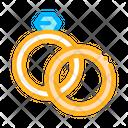 Rings Detail Wedding Icon