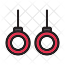 Rings Athlete Gym Icon