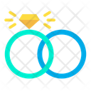 Engagement Ring Wedding Ring Icon