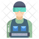 Riot Police Military Cop Icon