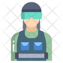 Riot Police Woman Woman Cop Woman Police Icon