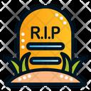 Rip Gravestone Graveyard Icon