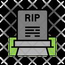 Rip Gravestone Color Icon