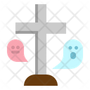 Cross Rip Gravestone Icon