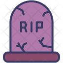 Tombstone Rip Scary Icon