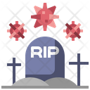 Rip Corona Death Death Icon