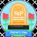 Tombstone Grave Rip Icon