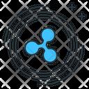 Ripple Altcoin Digital Icon