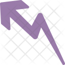 Rising Growth Zigzag Icon